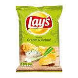 chips saveur cream & onion lays 120g