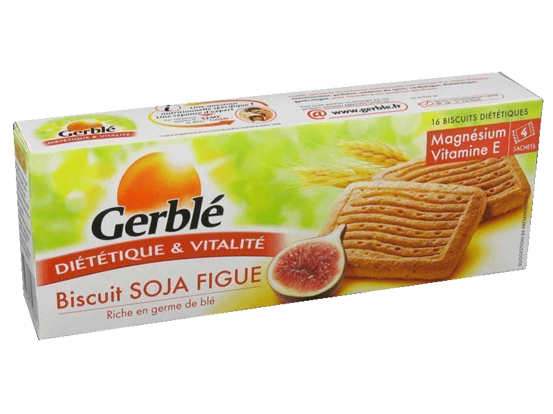 Generation active, energie vitale, biscuits dietetiques soja figue x16, le paquet,270g