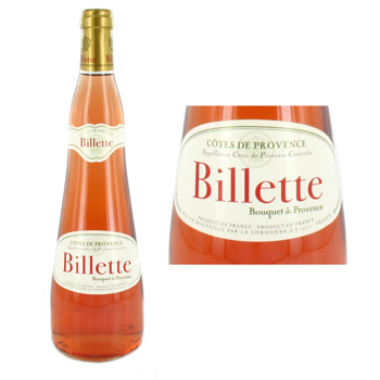 Vin rose Billette Bouquet de Provence 75cl