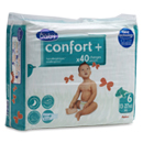 Auchan baby changes confort + jumbo xl 13/27kg x40 taille 6