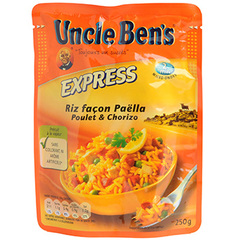 Riz express 2mns Uncle Ben's Facon paella 250g