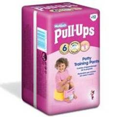 Huggies pull-ups convenience T6 fille x12