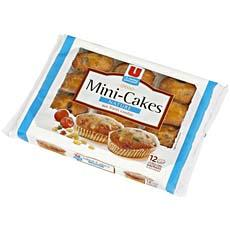 Mini cakes aux fruits U, 12 pieces, 450g