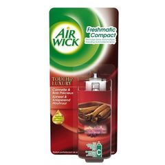 Air Wick, Fresh Matic - Recharge spray automatique Cannelle & Bois Precieux, la recharge de 24ml