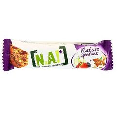 Barre fruits rouges, pommes, amandes Nature Goodness N.A, 30g