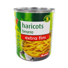 haricots beurre extra fins auchan 400g