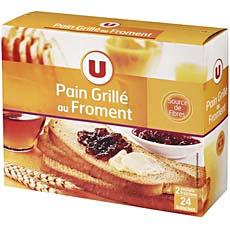 Pain grille U, 24 tranches, 500g