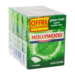 Chewing-gums sans sucre menthe verte Green Fresh