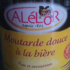 Moutarde douce a la biere ALELOR, 350g