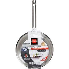 Domedia, Poele inox, tous feux compatible induction, anti-adhesif, D20cm, la poele