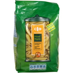 Penne rigate, pates alimentaires