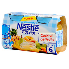 Nestle p'tit pot cocktail de fruits 2x130g des 6mois