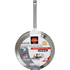 Domedia, Poele inox, tous feux compatible induction, anti-adhesif, D28cm, la poele
