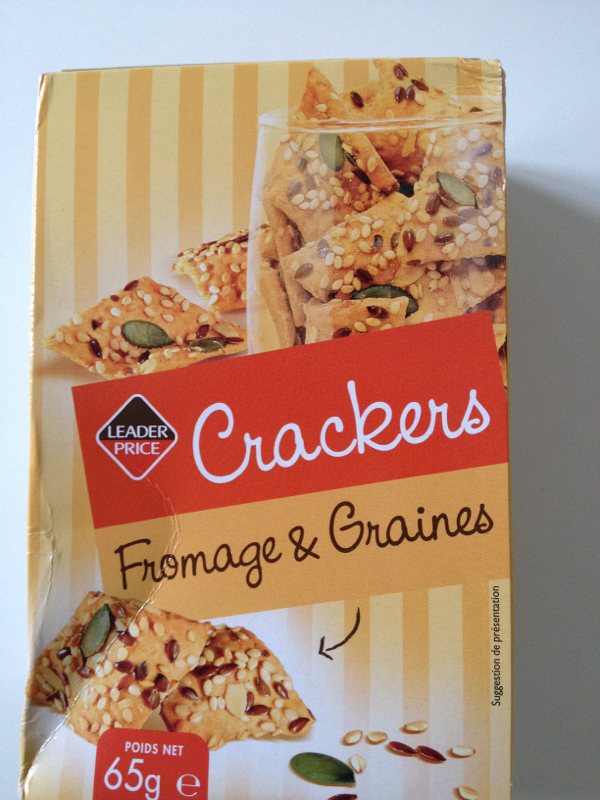 Crackers fromage et graines 65g