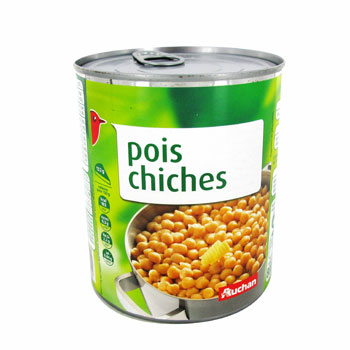 pois chiches auchan 530g