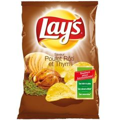 Chips Lays poulet roti thym 120g
