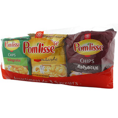 Chips Pom'lisse aromatisees 6x30g
