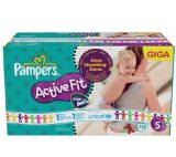 Pampers - 81323102 - Active Fit Couches - Taille 5 Junior (11-25 kg) Unisexe - Gigapack x124
