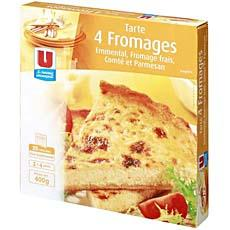 Tarte 4 fromages U, 400g