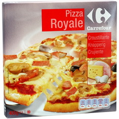 Pizza Royale jambon/fromage/champignons surgelee