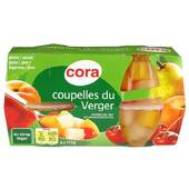 Cora Coupelles De Fruits Du Verger 4x65g