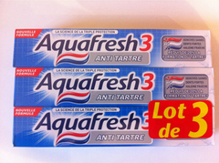 Aquafresh dentifrice anti tartre 3x75ml