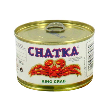 Crabe Royal au naturel 40% de pattes CHATKA, 140g