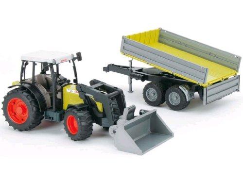 Tracteur 39 claas 39 avec fourche et remorque basculante tous les produits v hicules de ferme - Tracteur avec fourche ...