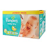 Couches Pampers Baby Dry Jumbo T3 + x82
