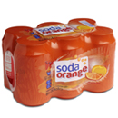 Auchan soda orange 6x33cl