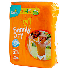 Couches Pampers Simply Dry Geant T5 11-25kg x41