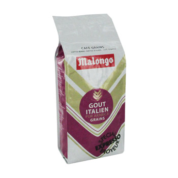 malongo gout italien arabica grains 250g tous les produits caf s moulus en grains prixing. Black Bedroom Furniture Sets. Home Design Ideas