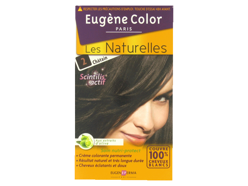 Coloration creme permanente EUGENE COLOR, chatain n°2