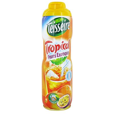 Teisseire, Sirop tropical fruits exotiques, le flacon de 60cl