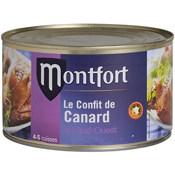 Confit de canard montfort 4 cuisses tambourin 1350g tous - Comment cuisiner les cuisses de canard ...