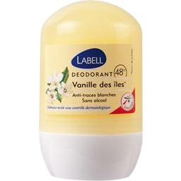 Labell, Deodorant 48h sans alcool vanille des iles, le roll-on de 50ml