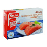 filets de saumon rose sauvage du pacifique x4 findus 400g