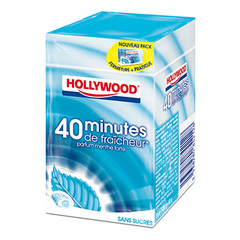Hollywood, Chewing gum 40 minutes fraicheur menthe forte, les 3 paquets