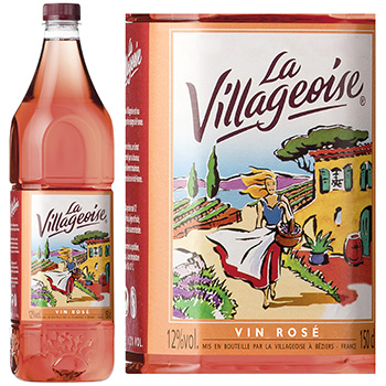 Vin de table rose LA VILLAGEOISE, 12°, 1,5l