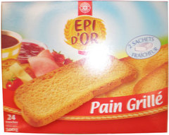 Pain grille Epi d'Or Au froment 500g