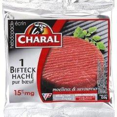 Steak hache 15% de MG CHARAL, 1x130g