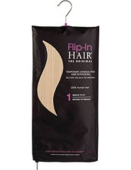 Flip-In Hair Extensions capillaires Cheveux raides Blond vanille n° 1001 50 cm