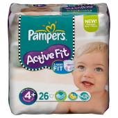 Pampers active fit midi pack maxi + change x26 taille 4 +