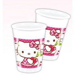 Gobelets plastique Hello Kitty 20cl