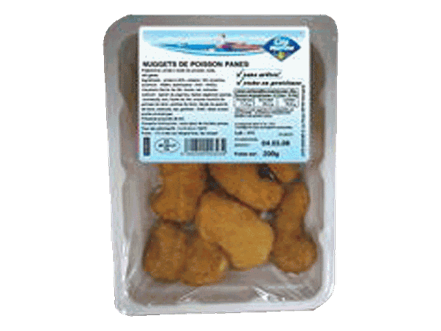Nuggets de poisson pane