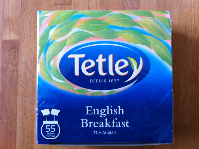 Tetley, The anglais, english breakfast , la boite de 55 sachets, 110 gr