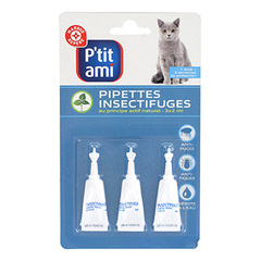 Pipettes insectifuges P'tit Ami Pour chat x3