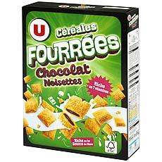 Cereales fourrees chocolat noisette U, 375g