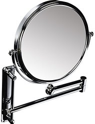 Danielle Creations Adjustable Wall Mounted Chrome Mirror x 10 Magnified 20cm