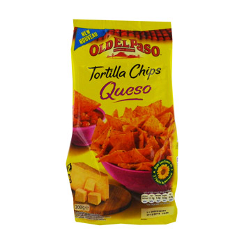 Tortilla chips queso, chips de mais saveur fromage